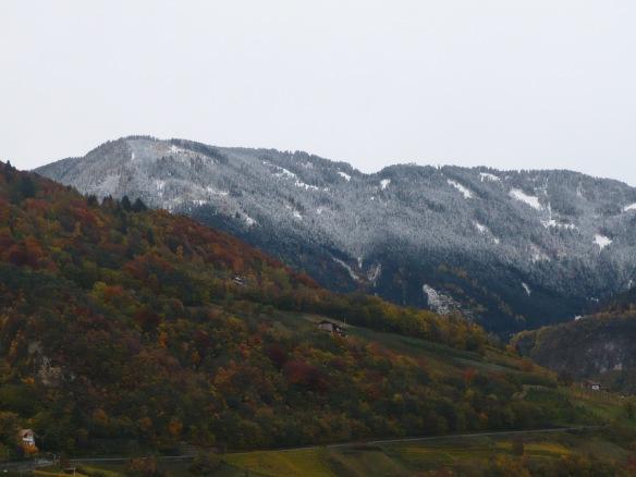 Guten Morgen Schnee Buongiorno Neve Buntglas