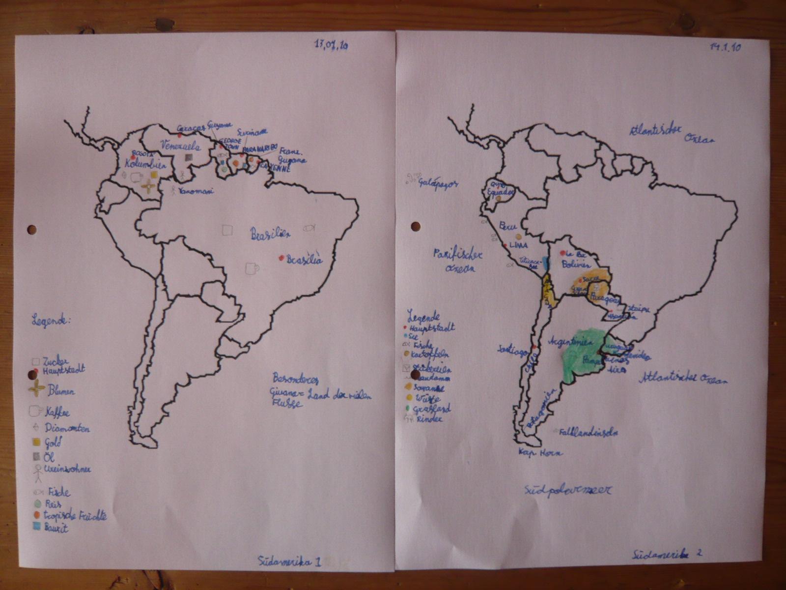Südamerika: Länder, Hauptstädte, Verschiedenes   Buntglas